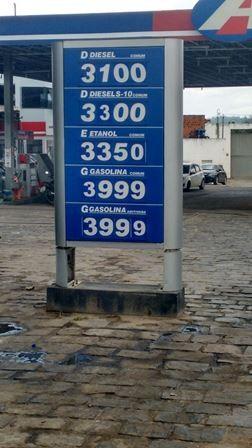 Preço do combustível em Ipiaú chama a atenção pela carestia