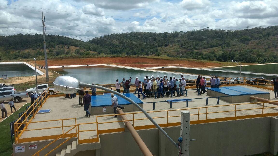 Estação elevatória de tratamento de esgoto. Governo do Estado investiu quase 25 milhões de reais na obra