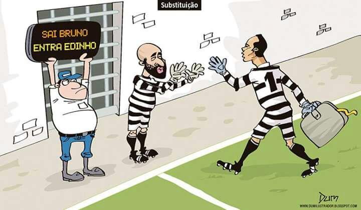 """""""Sai Bruno, entra Edinho. Não podemos ficar sem goleiro"""""""