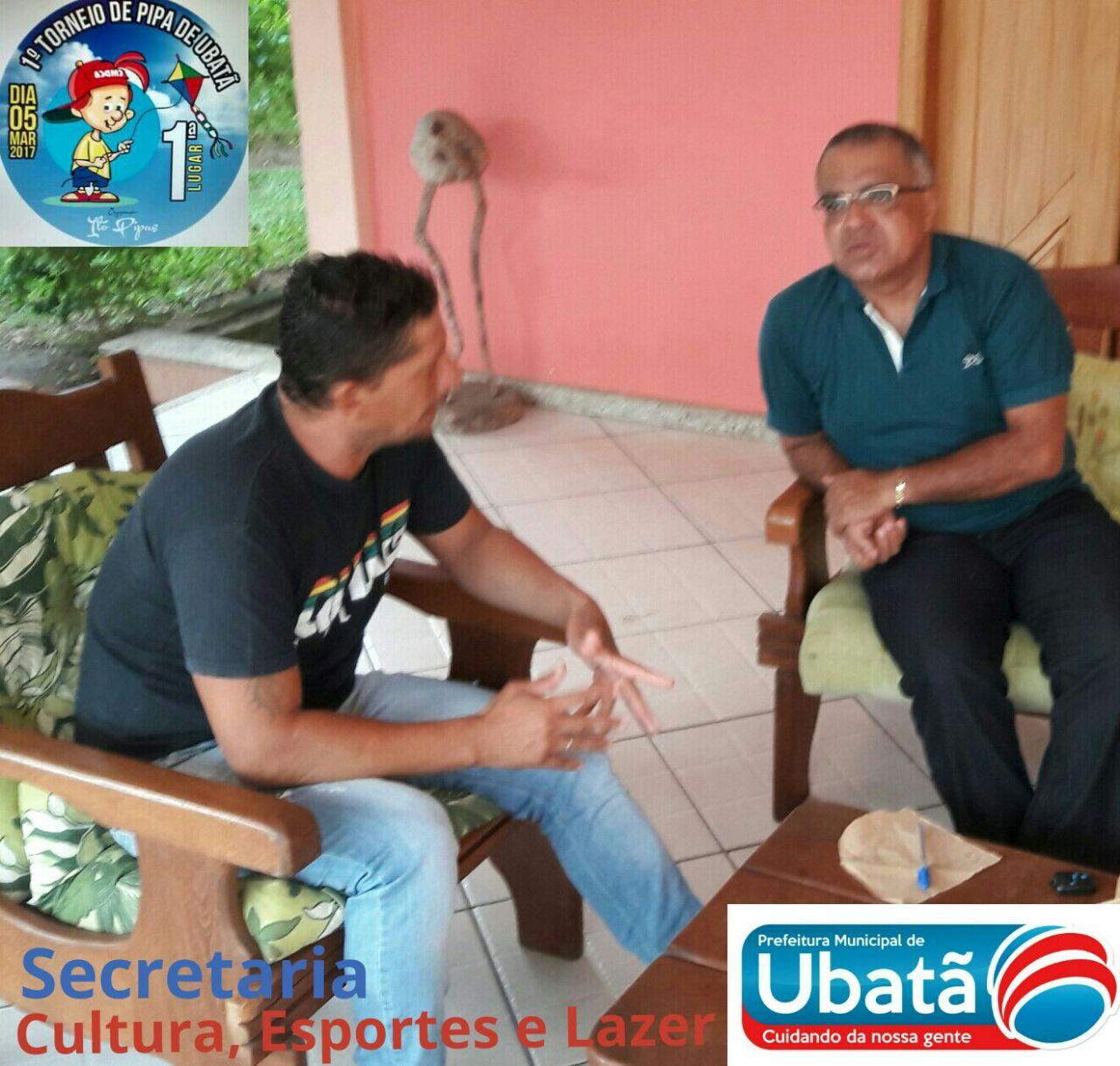Em conversa com o esportista Ito Pipas, em Ubatã
