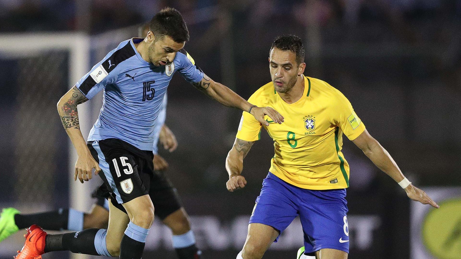 O Uruguai saiu na frente, mas o Brasil empatou o jogo ainda na primeira etapa (Crédito: Pedro Martins/MoWa Press)