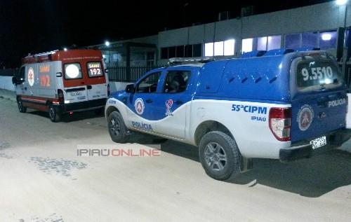 A Polícia Militar acompanhou o resgate das vítimas e registrou a ocorrência. (Foto: Noel Rodrigues /Ipiaú On Line)