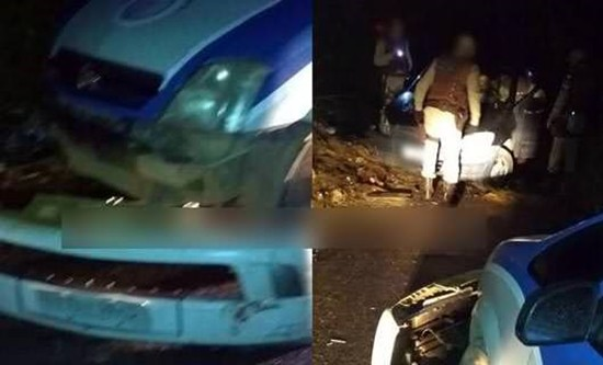 Vários disparos atingiram o veículo.