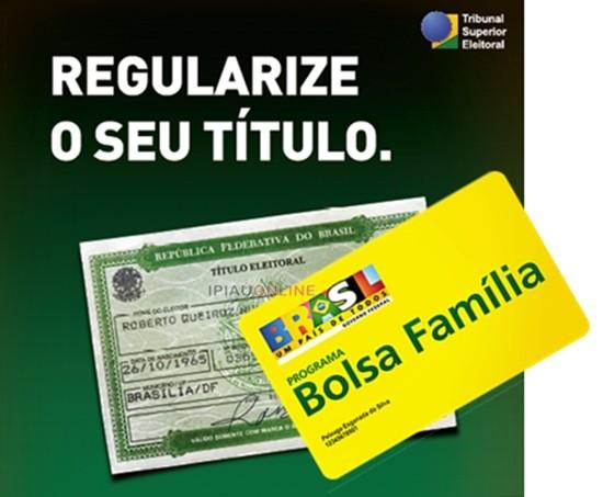 O TRE alerta: quem não fizer o recadastramento biométrico pode perder o bolsa família. (Foto montagem: Noel Rodrigues)