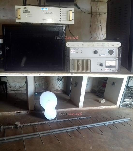 Os equipamentos de propriedade da prefeitura de Ipiaú foram desligados. (Fotos Marciana via WhatsApp/Ipiaú On Line)