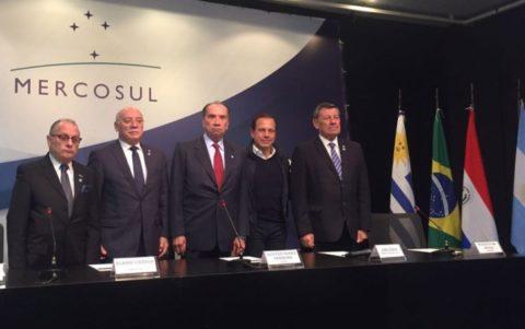 Reunião em São Paulo decidiu suspender direitos políticos da Venezuela no Mercosul (Foto: Gabriela Bazzo/G1)