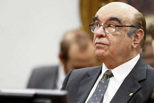 Relator da denúncia contra Temer na CCJ da Câmara, Bonifácio de Andrada. (Foto: Pedro Ladeira/Folhapress)