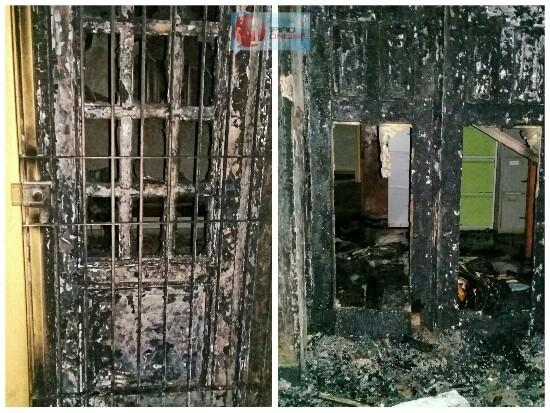 Apenas a recepção e a sala do arquivo foram parcialmente atingidos.