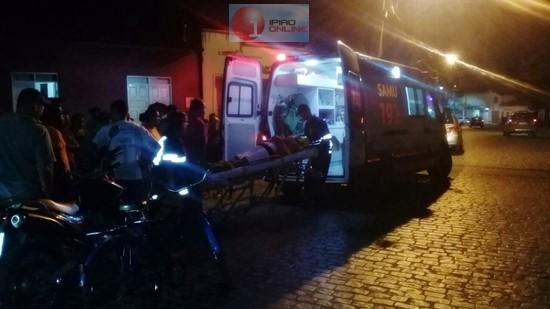 A mulher teve ferimentos leves. (Fotos: Noel Rodrigues / Ipiaú On Line)