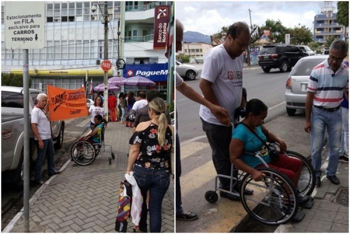 Os flagrantes vão de motoristas que estacionam em rampas para cadeirantes e prédios sem acessibilidade.