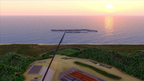 Ilustração do projeto Porto Sul/Governo da Bahia.