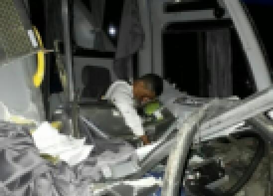 Nove pessoas ficaram feridas no acidente. (Foto Divulgação / PRF)