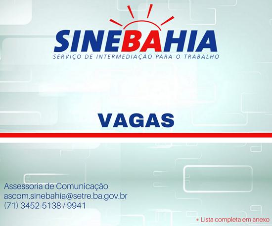 Sine Bahia Vagas