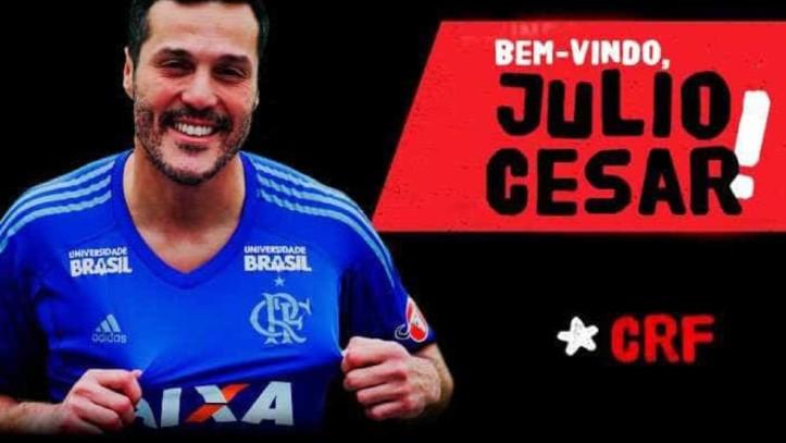 Flamengo anunciou no fim da manhã desta segunda-feira (29) a contratação do goleiro Júlio César, de 38 anos.