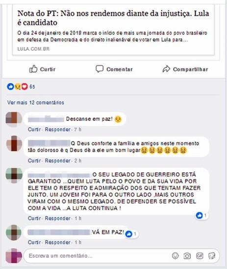 Amigos lamentaram a morte do ex-dirigente do MST (Foto: Reprodução | Facebook)