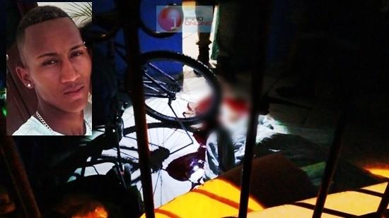 'Latera'l foi atingido por vários disparos. (Fotos: Noel Rodrigues / Ipiaú On Line)