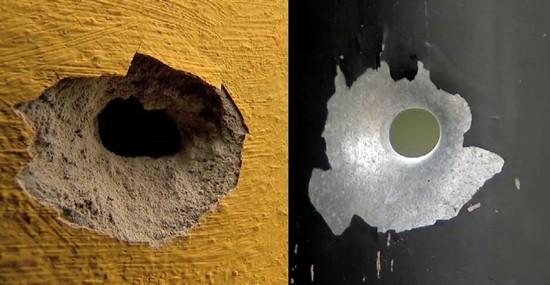 As marcas dos tiros ficaram marcadas nos muros da boate e no portão.