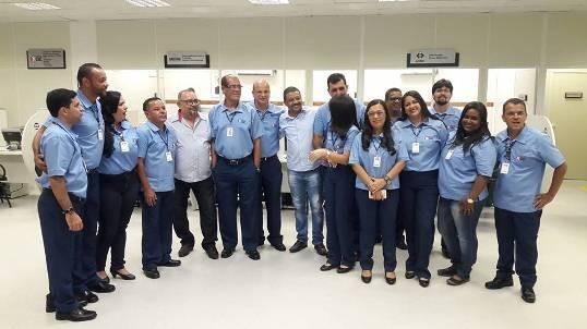Servidores da agência receberam a visita do presidente da Câmara, vereador Carlinhos e do vereador Jô da AABB