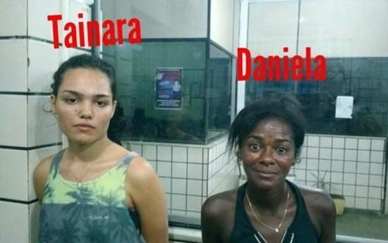 Dupla foi monitorada pela polícia.