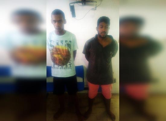 Francisco Pablo e Vitor Barbosa foram detidos em flagrante. (Foto divulgação 55ª CIPM/Ipiaú)