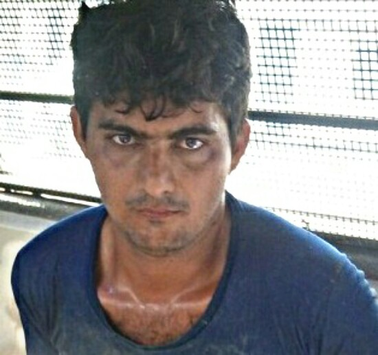 O cigano foi preso na entrada de Jitaúna após a PM montar barreira. (Foto: Policia Militar)
