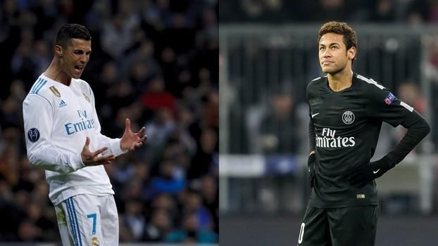 Cristiano Ronaldo e Neymar são as maiores estrelas no jogão desta quarta.