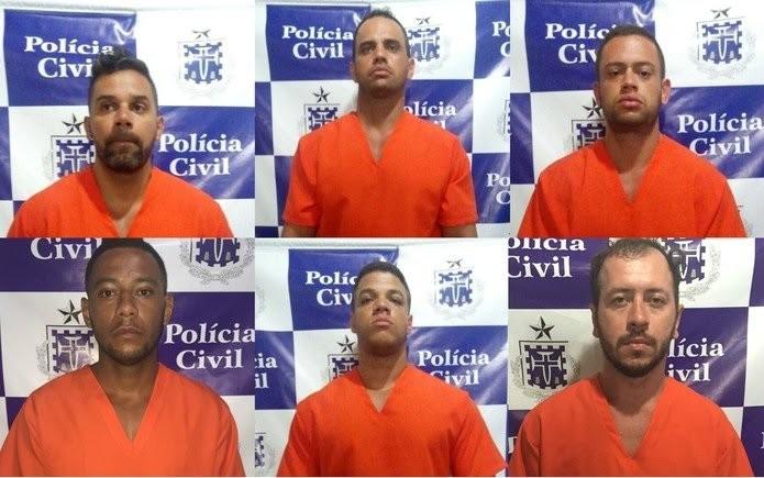 Junto com o sargento, outros seis homens foram presos (Foto: Divulgação/Polícia Civil)