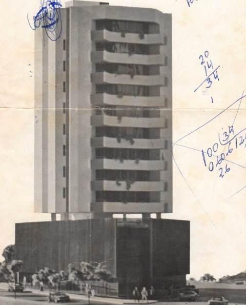 O projeto do prédio pronto, sonho que ficou só no papel